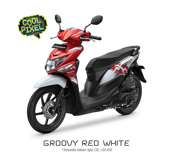 Honda Beat POP Cool Pixel Groovy Red White
